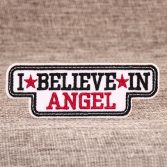 I Believe In Angel Embroidered Patches