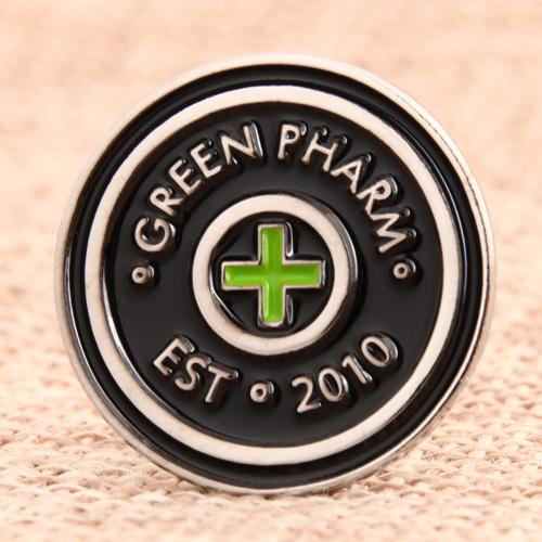 Green Pharm Lapel Pins