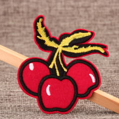 Red Cherry Custom Made Patches