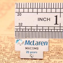 25th anniversary custom enamel pins
