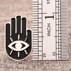Hand with Eye Custom Pins