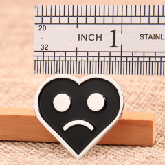 Sad Emoji Custom Pins