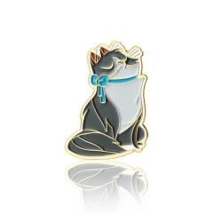 Grey Cat Lapel Pin