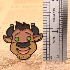 Cartoon Bull Lapel Pins