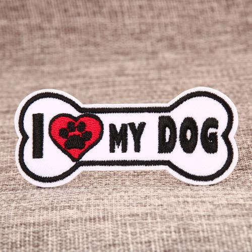 I Love My Dog Custom Patches