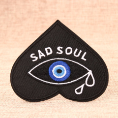 Sad Soul Embroidered Patches