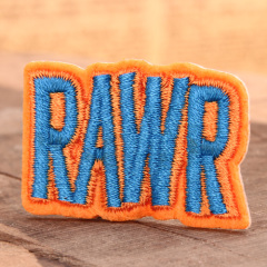 RAWR Custom Embroidered Patches