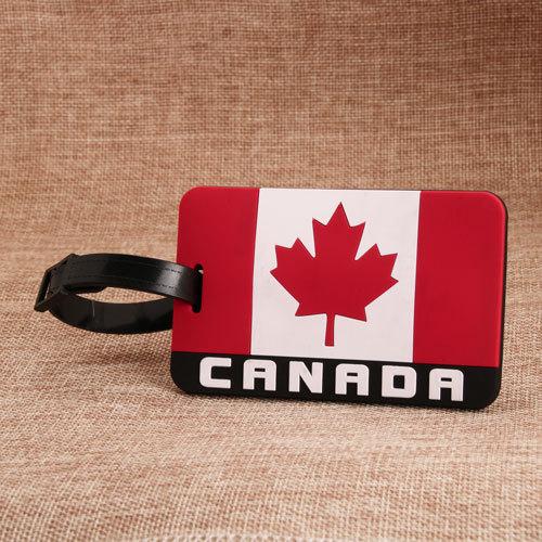 Canada Flag PVC Luggage Tag