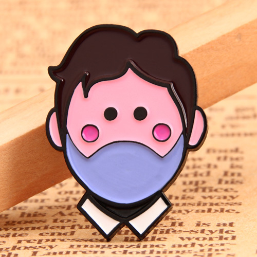 Mouth-muffle Boy Lapel Pins
