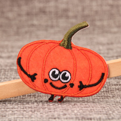 Pumpkin Embroidered Patches