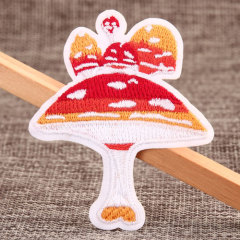 Mushroom Embroidered Patches