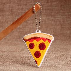 3D Pizza PVC Keychain