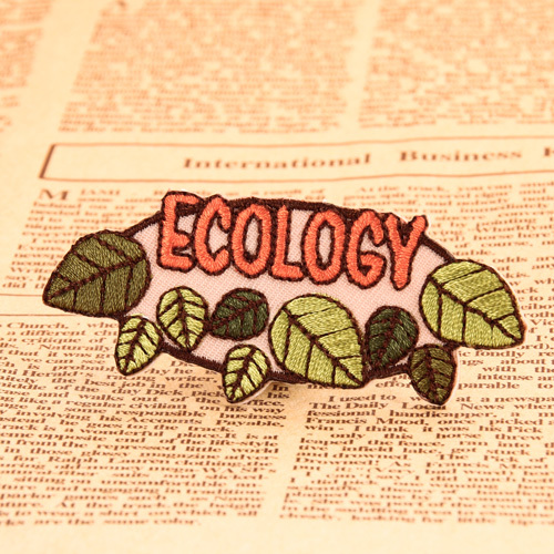 ECOLOGY Embroidered Patches