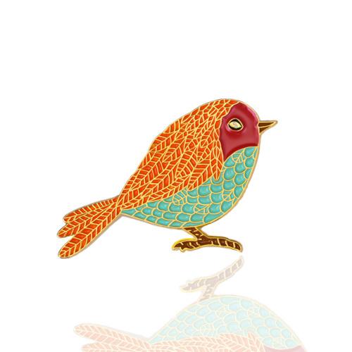 Colorful Bird Enamel Pins
