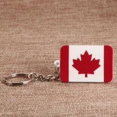 Canada Flag PVC Keychain