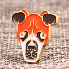 Dog Head Lapel Pins