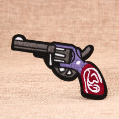 Pistol Custom Embroidered Patches