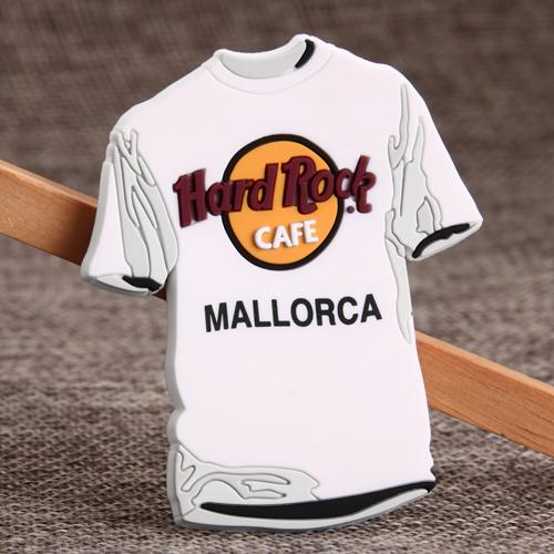Sports White T-shirt PVC Magnet