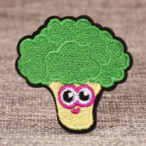 Broccoli Embroidered Patches