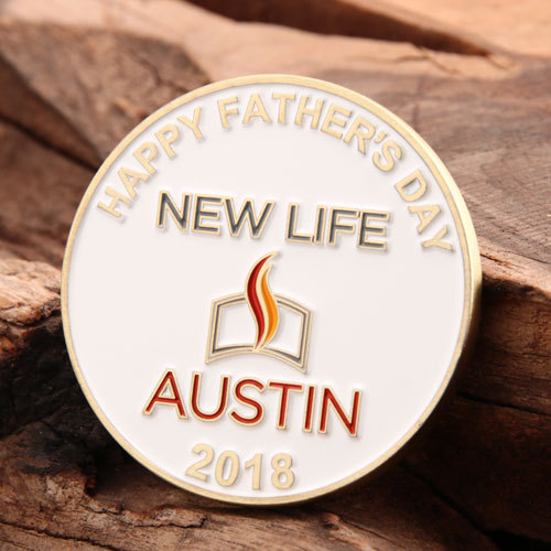 Father's Day Custom Coins