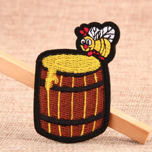 Wooden Barrel Custom Patches