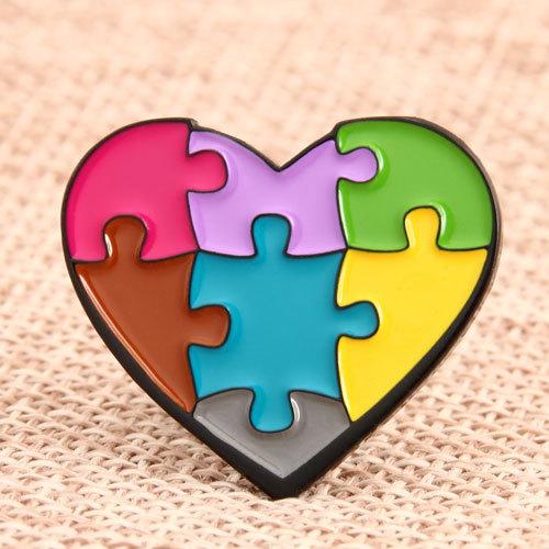 Heart Shape Enamel Pins