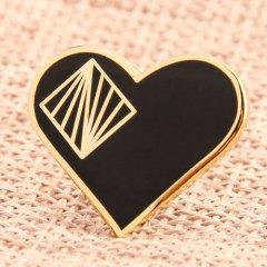 Heart Shape Custom Pins