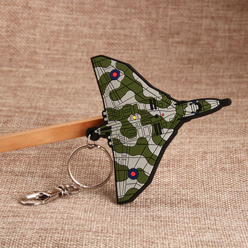Military Aircraft PVC Keychain