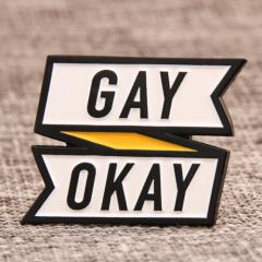 Gay Okay Enamel Pins