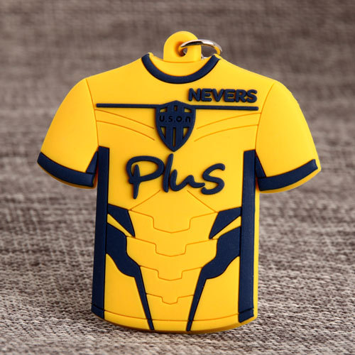 Yellow T-shirt PVC Keychain