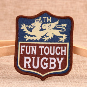 Rugby Custom Woven Patches