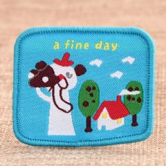 A Fine Day Embroidered Patches