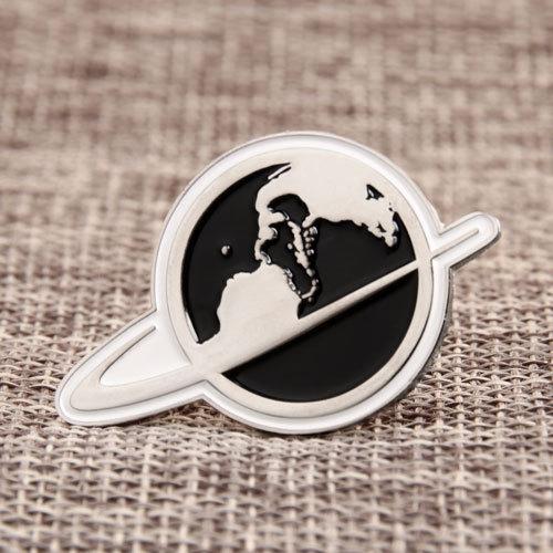 A globe Lapel Pins