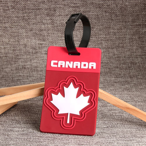 Canadian Maple Leaf PVC Luggage Tag