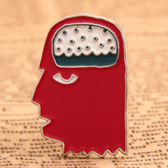 Creative Brain Metal Pins