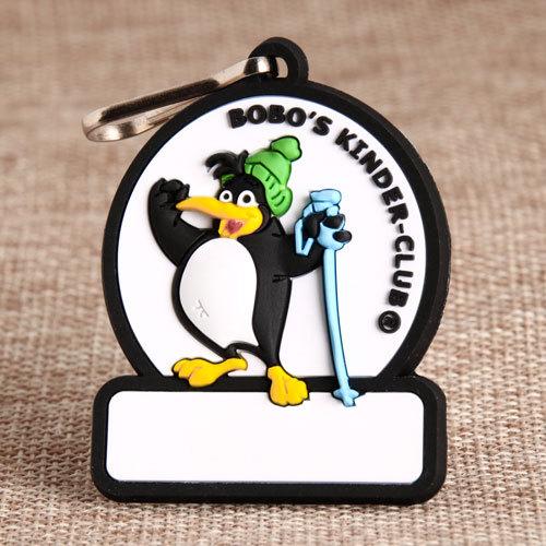 Penguin PVC Zipper Pull
