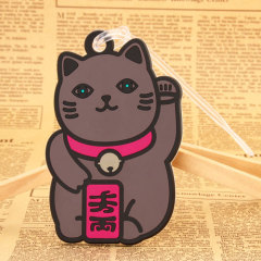 Lucky Cat PVC Luggage Tag