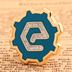Glisten E Custom Enamel Pins