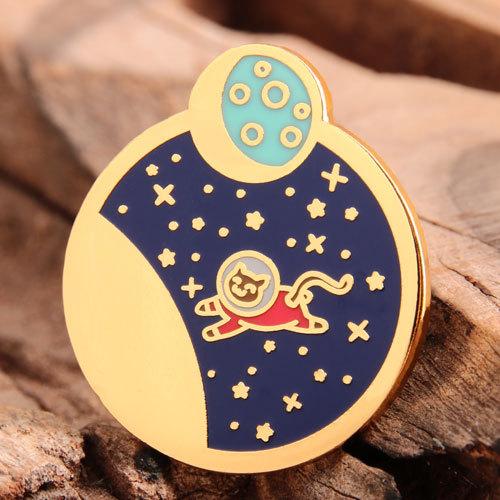 Cat Astronaut Shirt Pins
