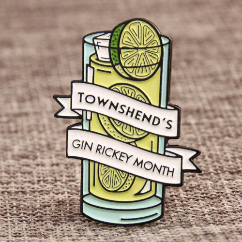 Gin Rickey Custom Pins