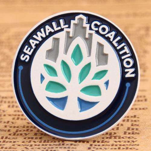 Seawall Coalition Custom Pins