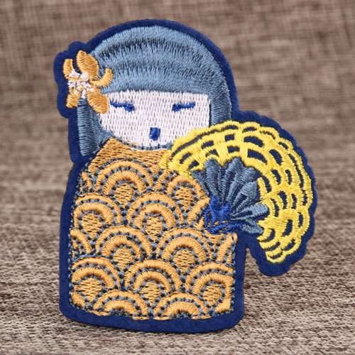 Cartoon Doll Embroidered Patches