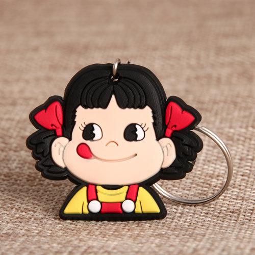 Fujiya Peko PVC Keychain