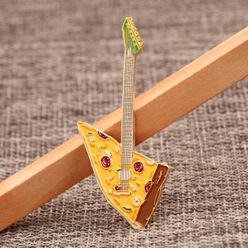 Pizza Guitar Custom Pins