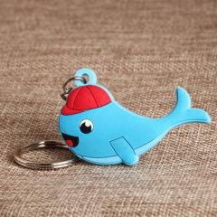 Whale PVC Keychain