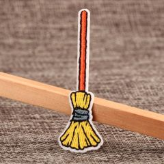 Broom Embroidered Patches