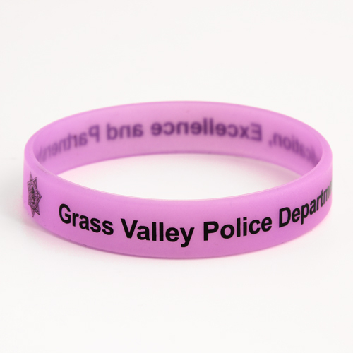 Grass Valley Police Department Wristbands