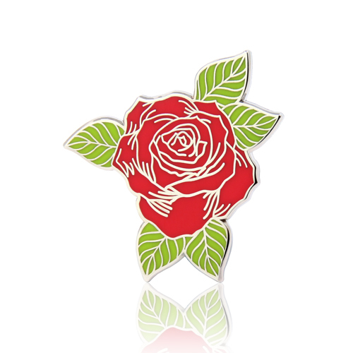 Rose Flower Lapel Pins