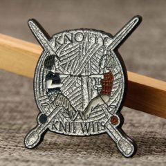 Knotty Knit Wits Custom Pins