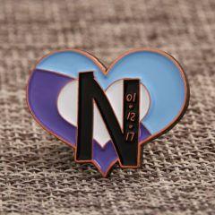 Unique Heart-Shape Lapel Pins